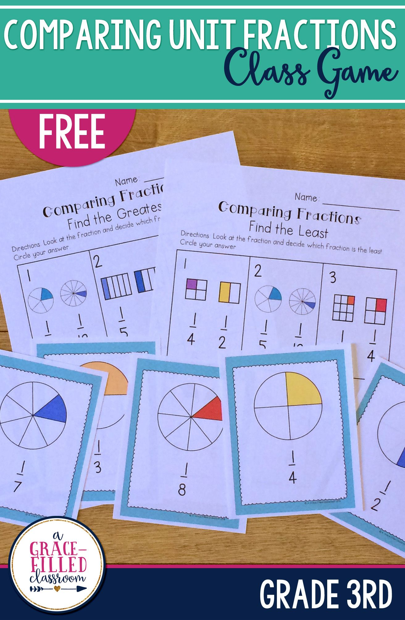 Comparing Unit Fractions Game Free