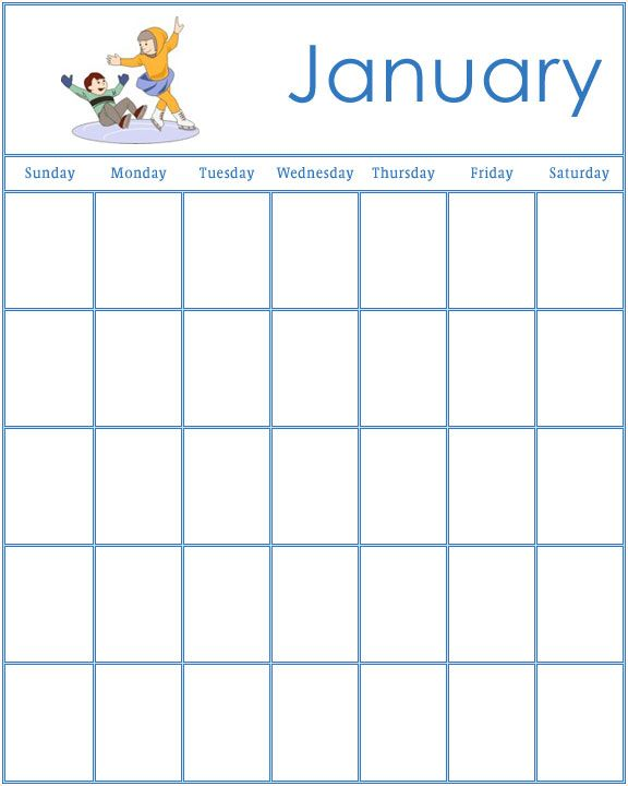 Free Printable Preschool Calendar Template   Child Fun