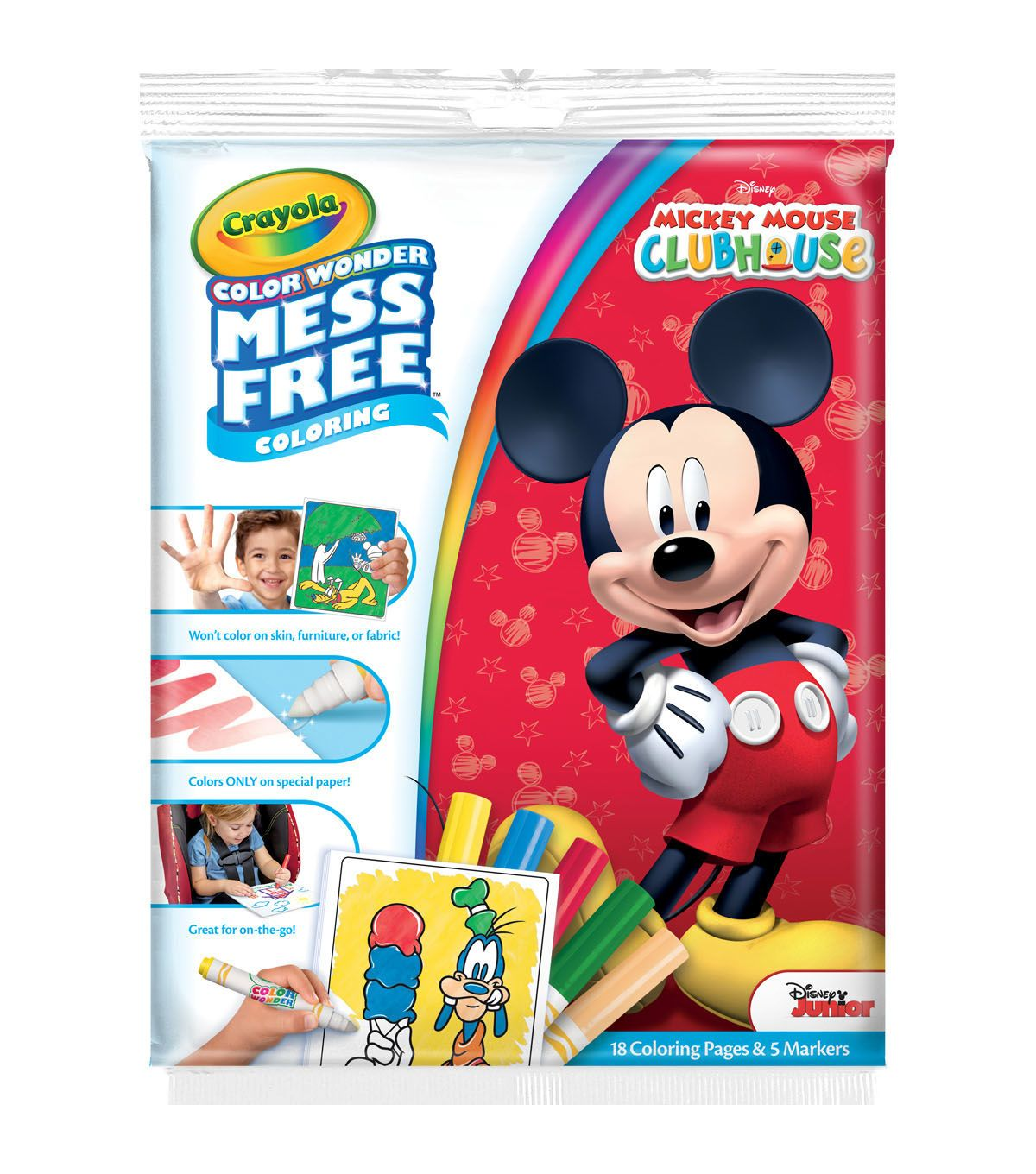 Crayola Color Wonder Coloring Pad & Markers - Mickey Mouse Clubhouse ...