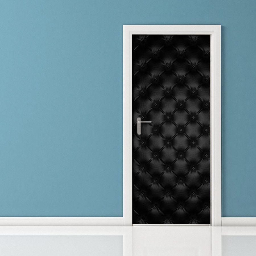 Adesivi Per Porte Interne Leroy Merlin.Adesivo Per Porte Pelle Nera Adesivi Murali Porte Rivestimento