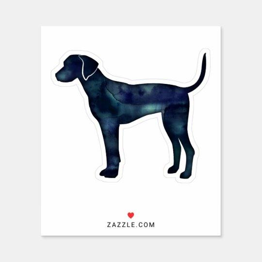Plott Hound Black Watercolor Silhouette Sticker | Zazzle.com