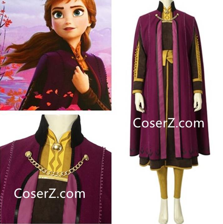 Girls 2019 Frozen 2 Princess Elsa Fancy Dress Up Cosplay Costume Party Outfits