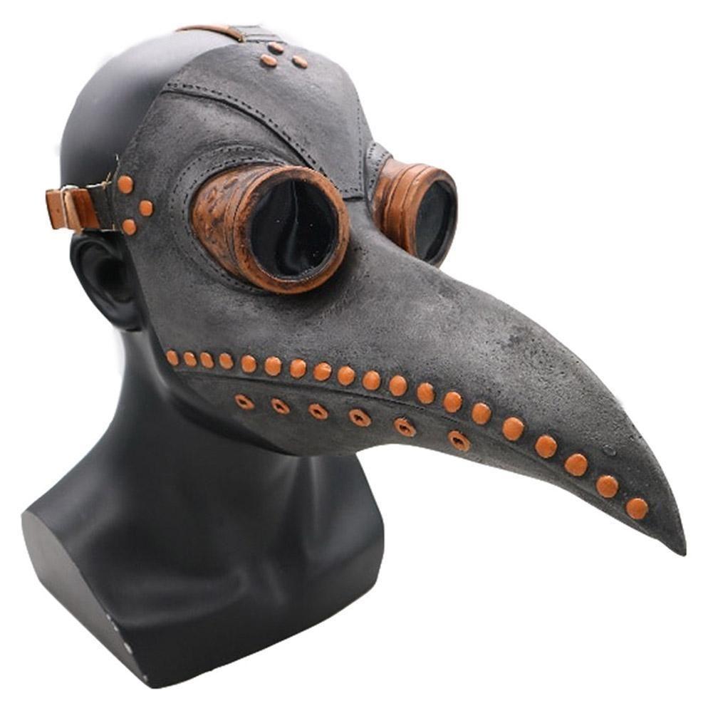 Halloween Cosplay Plague Doctor Mask Steampunk Bird Beak Long Nose Gothic Mask