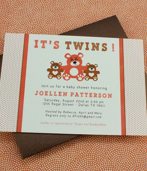 DIY Twins Baby Shower invitation template from #DownloadandPrint - baby shower invitation templates for microsoft word