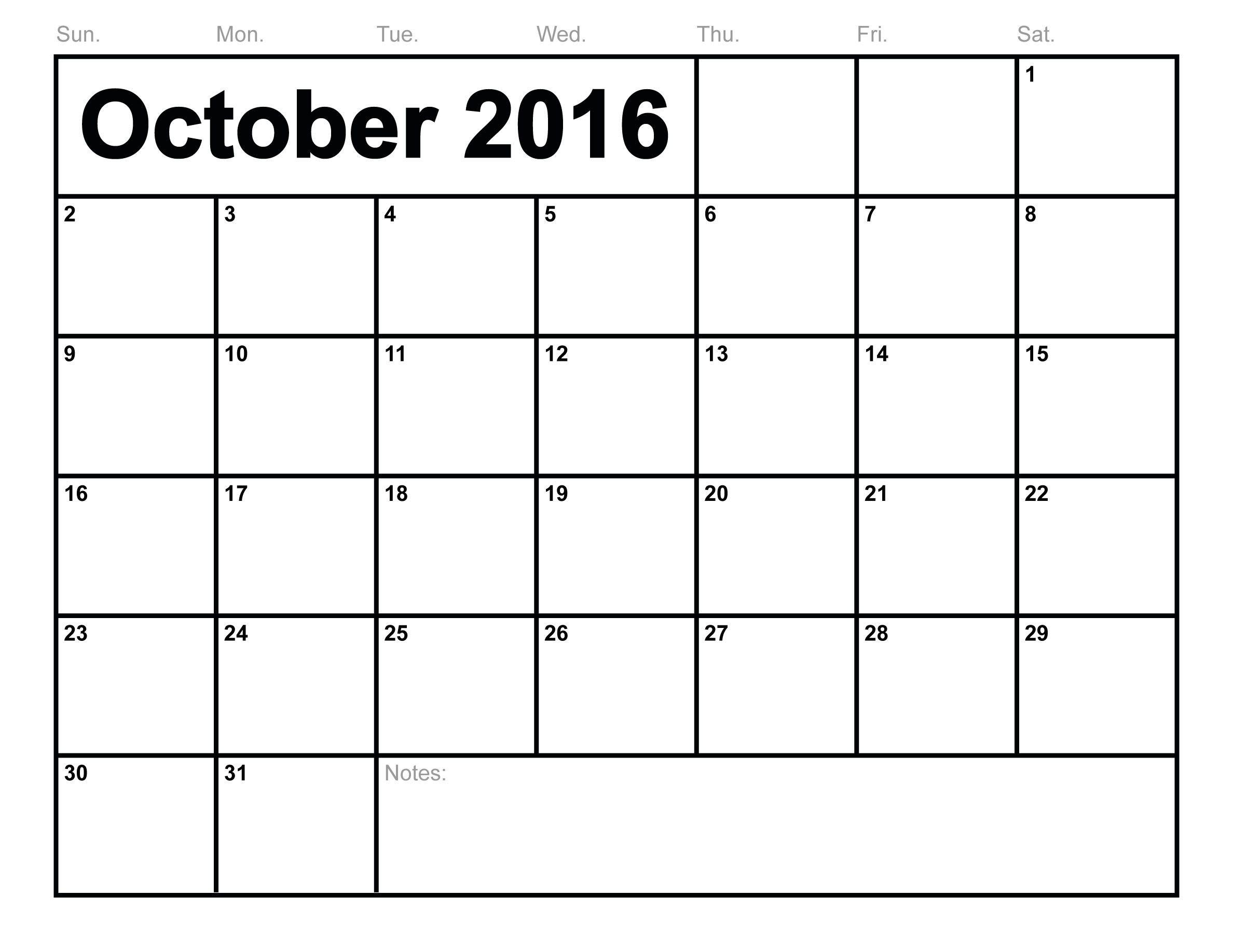 Free October  Printable Calendar   Calendar