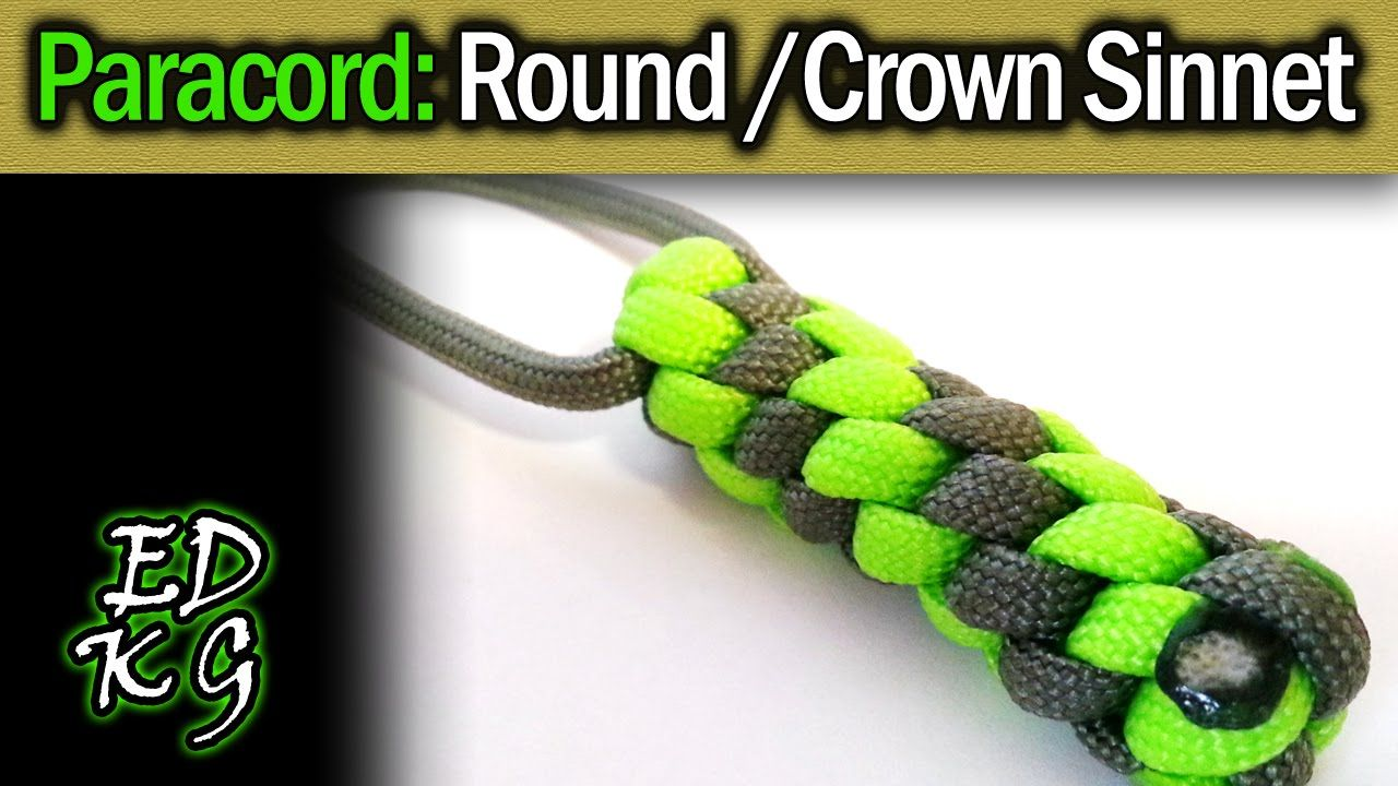 The Round Or Crown Sinnet Also Called Round Lanyard Knot Etc