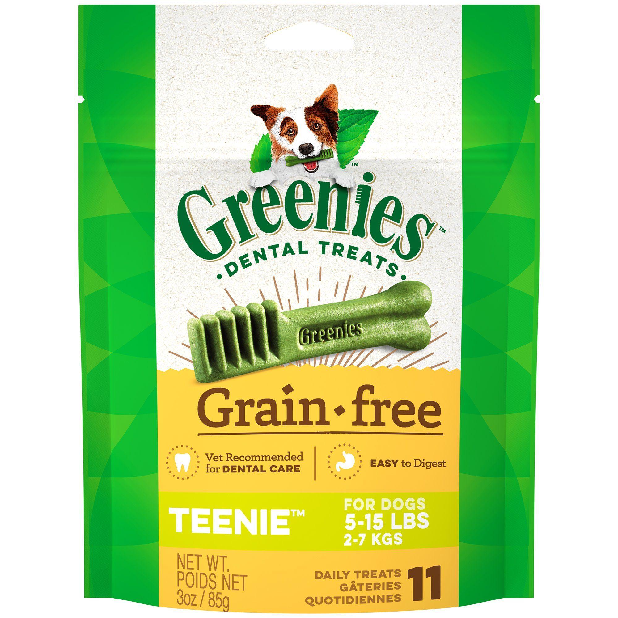 Greenies grain free teenie natural oral health dog dental