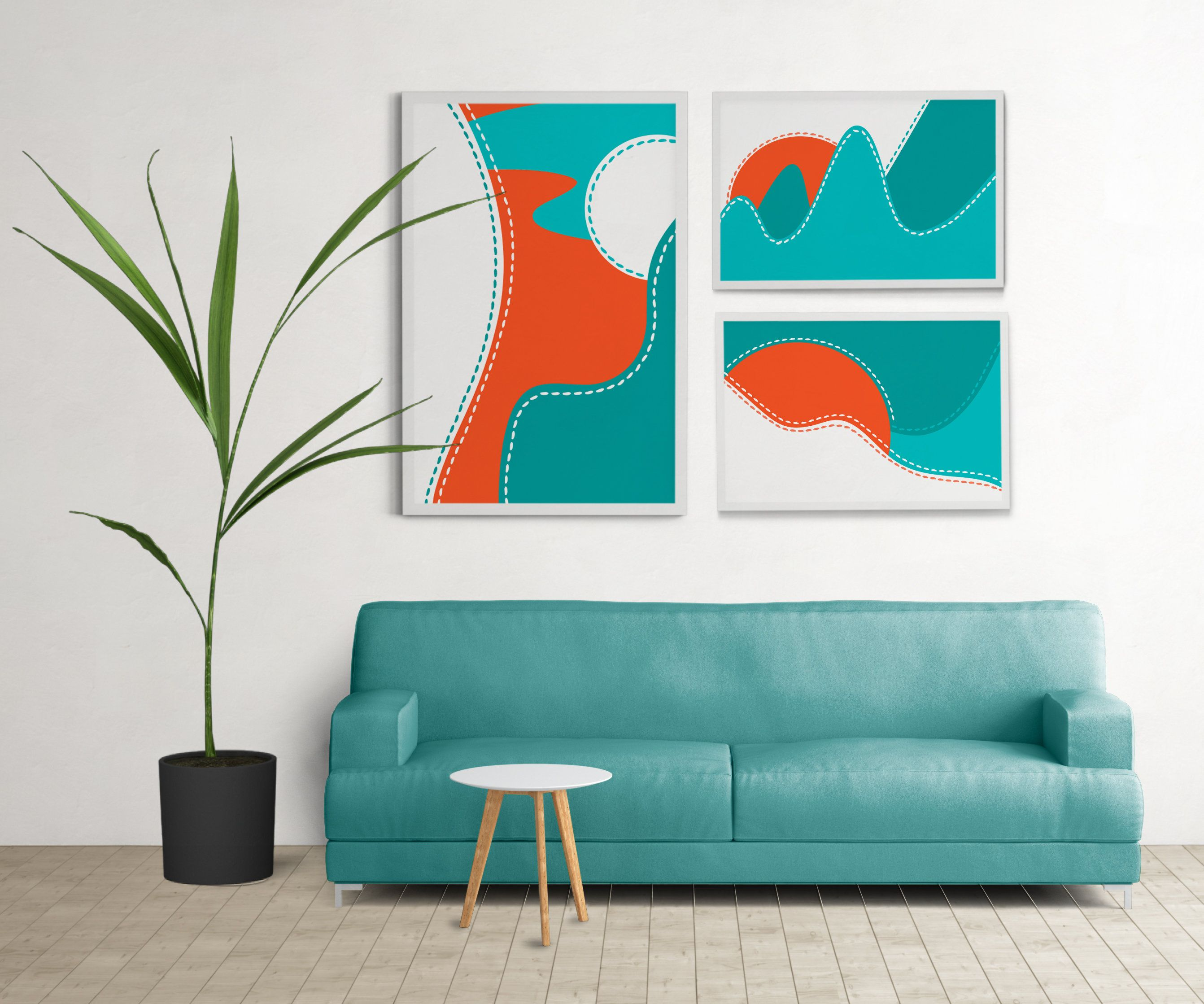 Pin On Set Of Posters Wall Printed Abstract Art