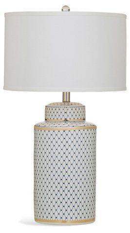 Laila Table Lamp Blue White Gold Table Lamps Table Floor