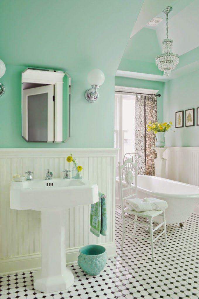 Bathroom Designed By Anna Forkum Green Bathroom Mint Green