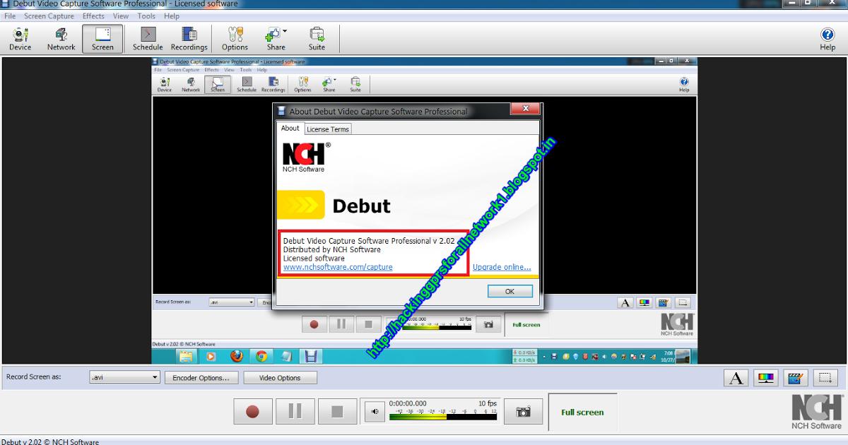 debut video capture software keygen