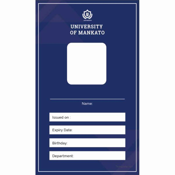 School Id Card Template In 2020