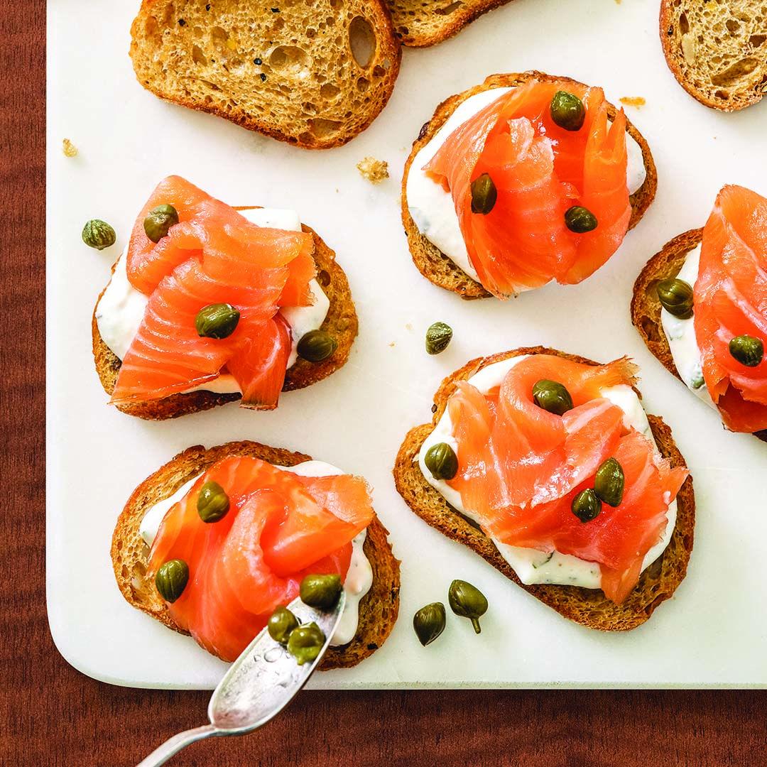 Smoked Salmon on Crostini | Recipe | Wegmans recipe ...