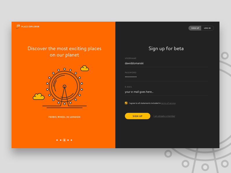Sign Up Page Sign Up Page Web App Design Signup
