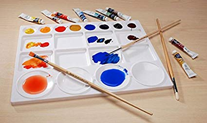Darice 97789 13-Inch-by-10-Inch 20-Well Palette Great For Mixing Colors  Plastic