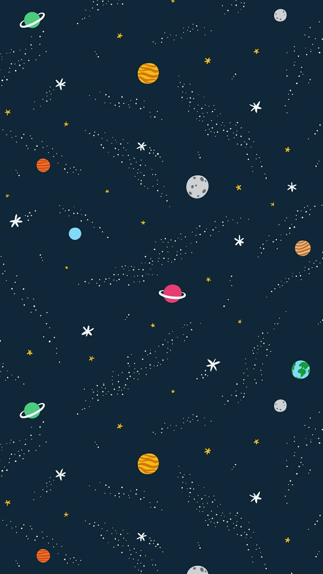 Vector cartoon style illustration of Solar system