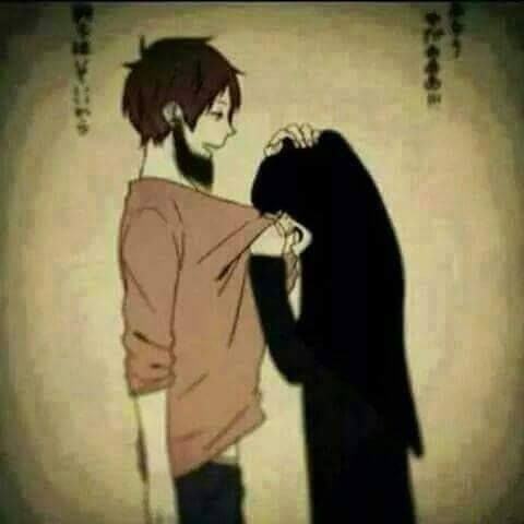 Foto Anime Islami Couple Remaja Muslim