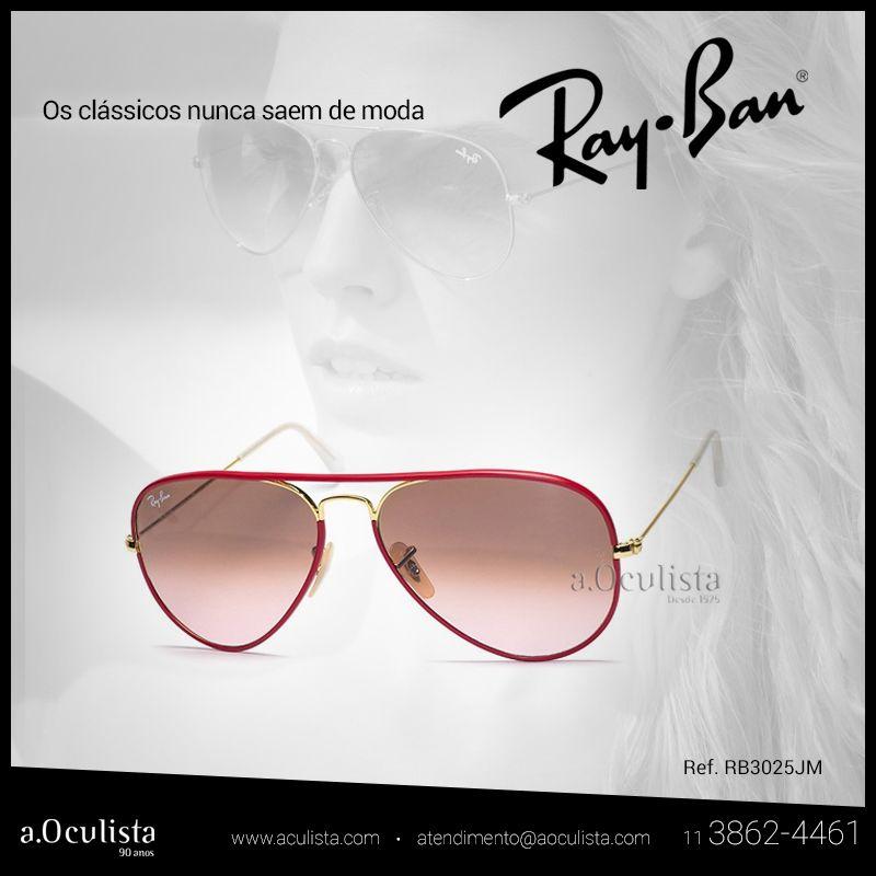 Porque os clássicos nunca saem de moda  Clique https://goo.gl/HhHvdI e conheça os modelos da marca.  #aoculista #rayban #glasses #sunglasses