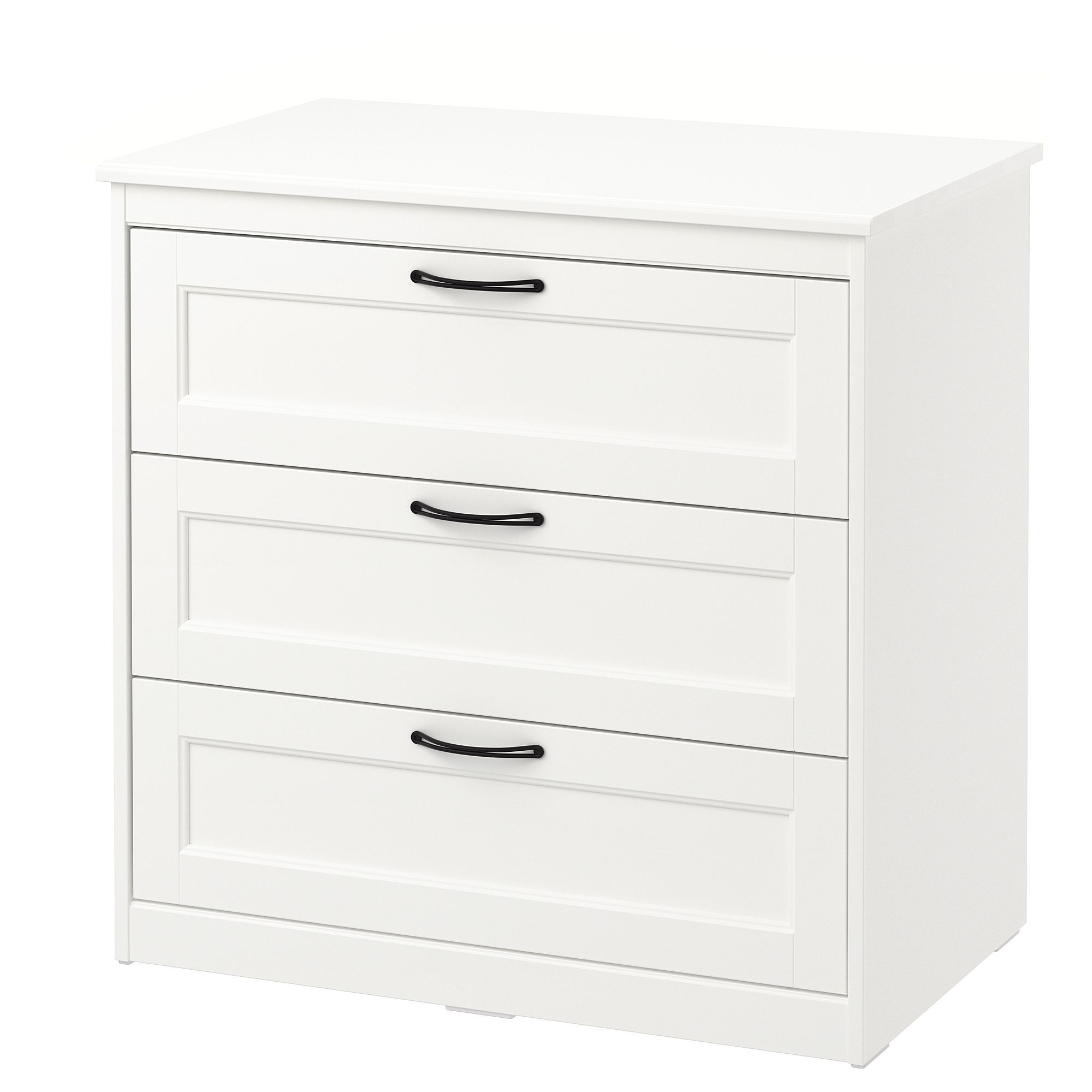 Ikea Songesand 3 Drawer Chest White