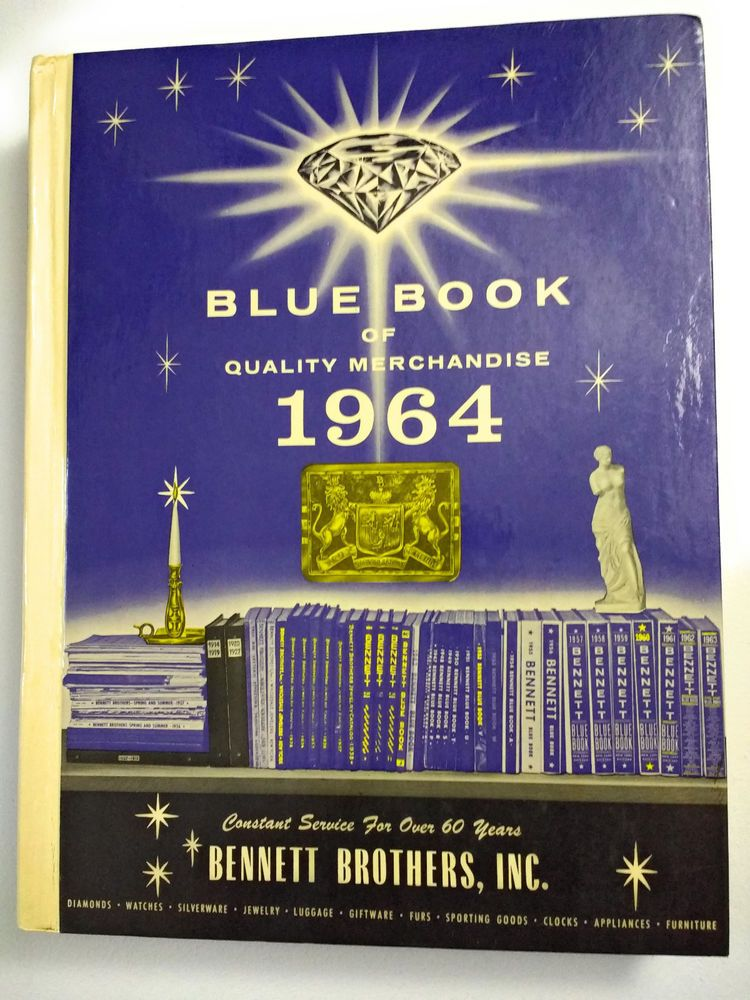 Vintage 1964 Blue Book of Quality Merchandise Bennett Brothers Mid ...