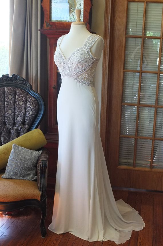Pearl Encrusted lavish wedding dress art by RetroVintageWeddings ...