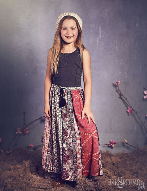 f547198076b8b Jak and Peppar Blowing in the Wind Maxi Skirt Blackberry Size 5 - 12 ...