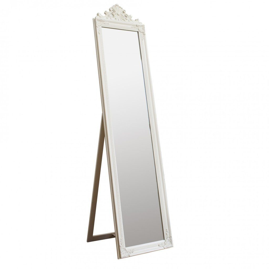 White Home Accessories Bedrooms - Lisbeth Cheval Mirror White... #WhiteHome #AccessoriesBedrooms