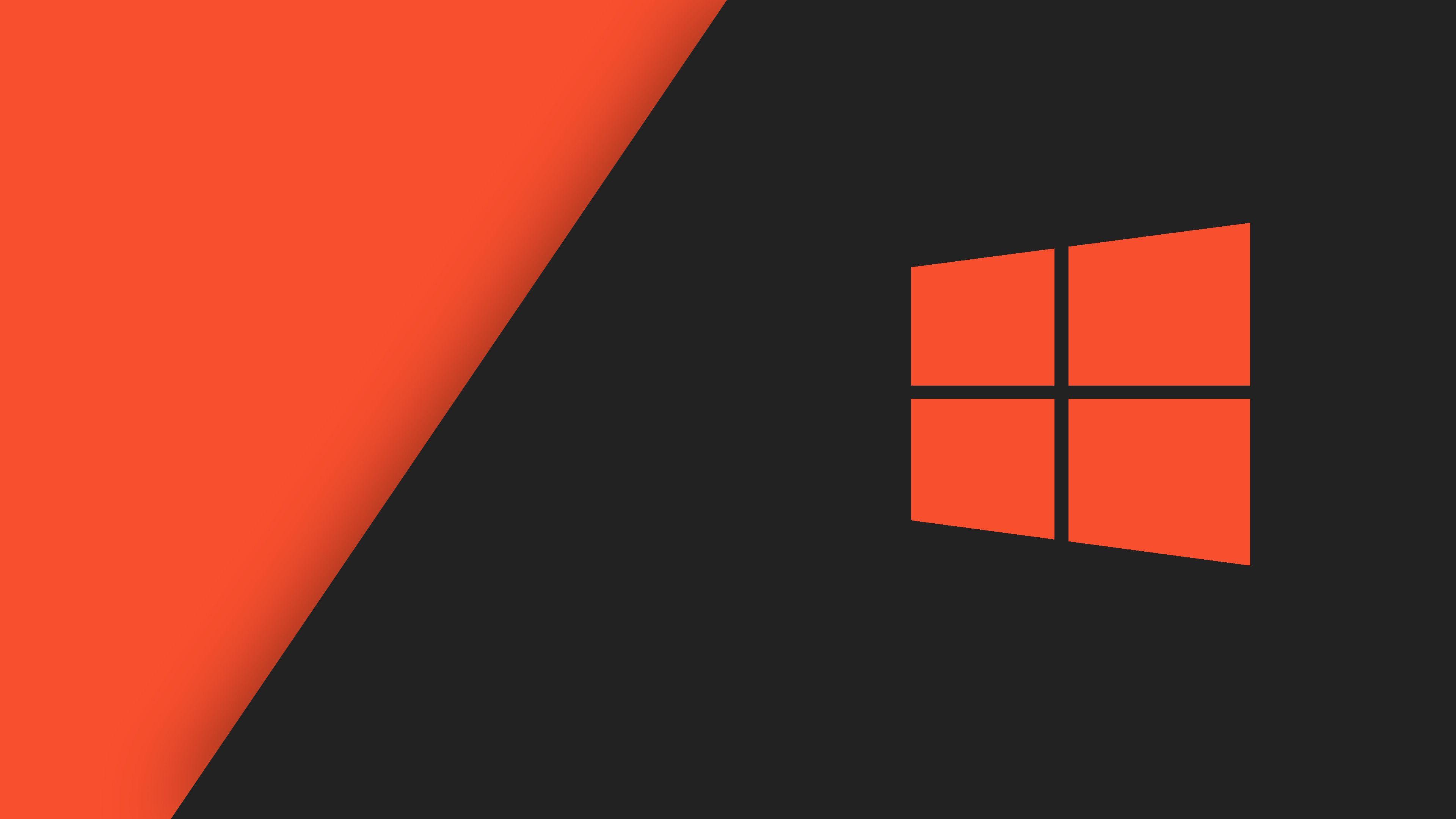 3840x2160 Orange Black Windows 10 Hd Wallpaper Wallpaper Windows 10 Samsung Wallpaper Uhd Wallpaper