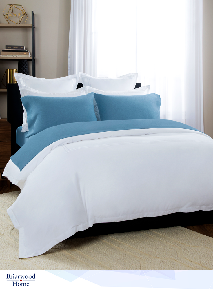Give Your Room The Soothing Effect Of #Blue.100% Turkish Cotton Bedding.