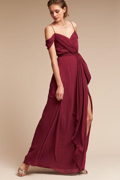 75acecd5ab5 ... Burgundy Chiffon Bridesmaid Dress. Marsala Kane Dress