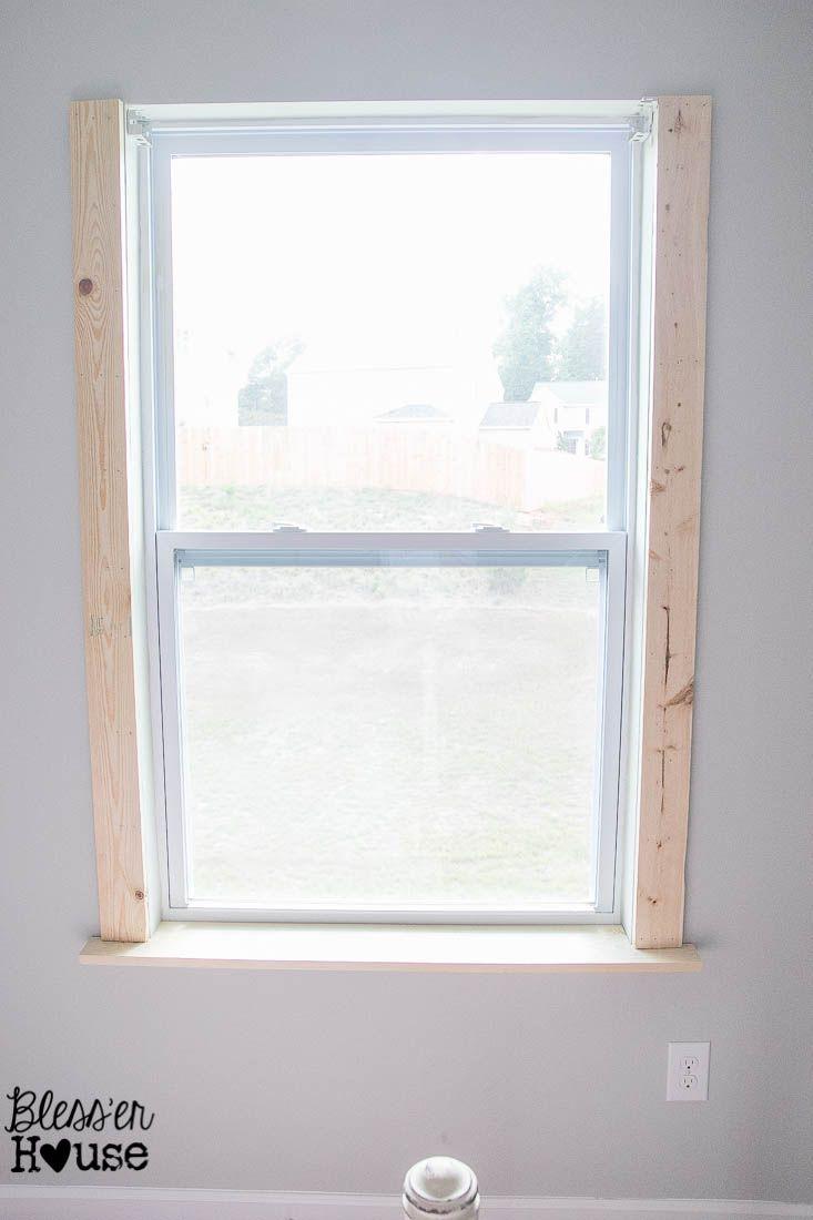 Window casing ideas  diy window trim  the easy way  window house and window sill