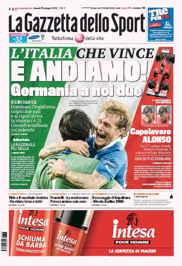 La Gazzetta dello Sport Germania a noi due (With images