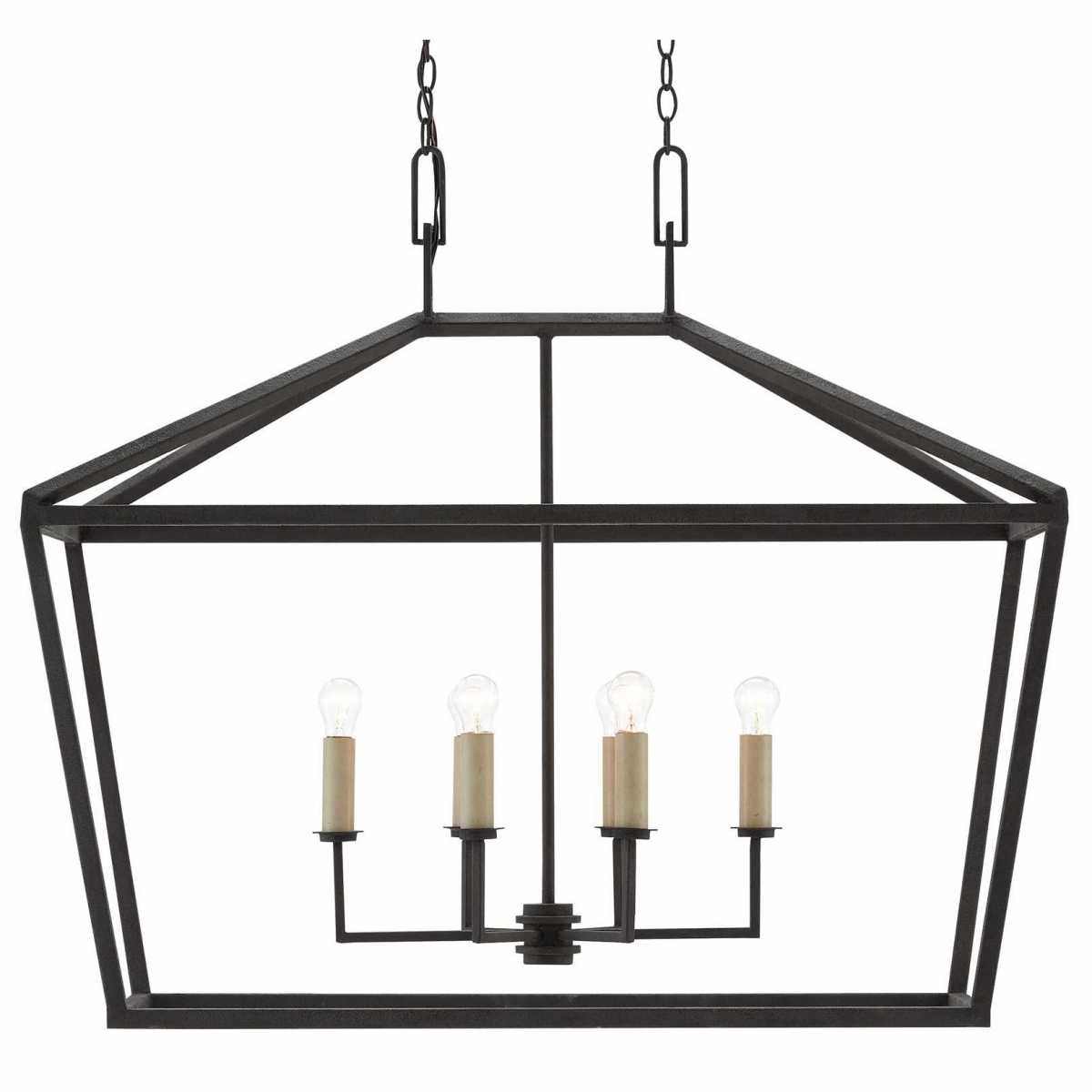 Currey And Company Denison Rectangular Lantern Chandeliers