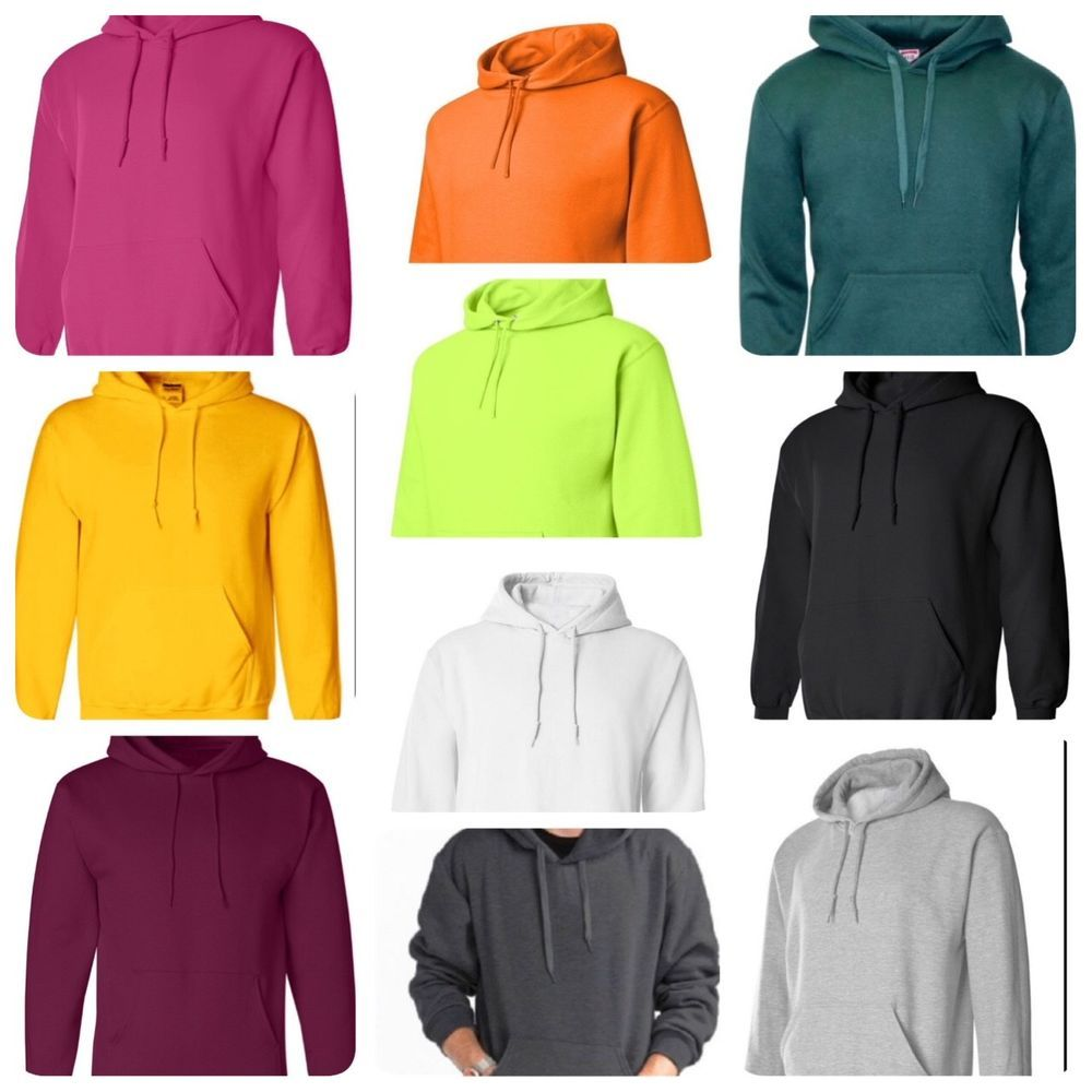 Hooded Plain Sweatshirt Men Women Pullover Hoodie Fleece Cotton Blank New  S-3XL  T  PulloverHoodie 61458f47e2
