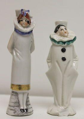"2 Antique Figural Pierrot Clown Perfume Bottles c1920 4""H Vintage | eBay"