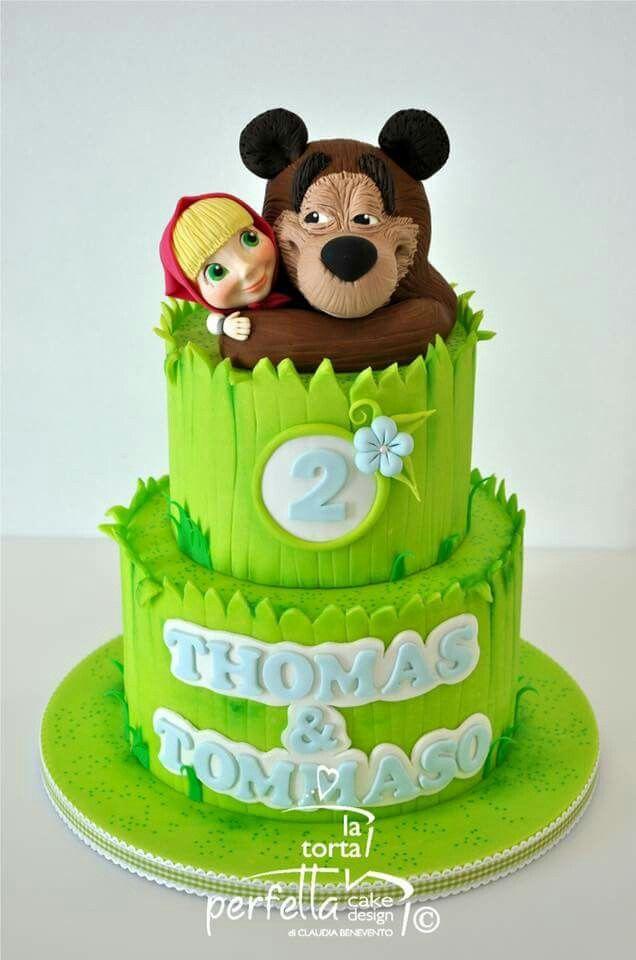 Masha And The Bear Cake Masza I Niedzwiedz Pinterest Bear