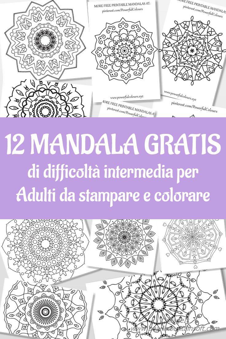 Mandala Intermedi 12 Pagine Gratis Da Colorare Per Adulti