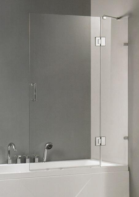 Mampara de vidrio templado en la tina de baño. | baños ...