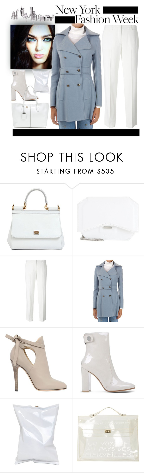 """""""Pack for NYFW!"""" by yours-styling-best-friend ❤ liked on Polyvore featuring Dolce&Gabbana, Givenchy, Ermanno Scervino, Jimmy Choo, Gianvito Rossi, Anya Hindmarch, Hermès, Tod's, women's clothing and women"""