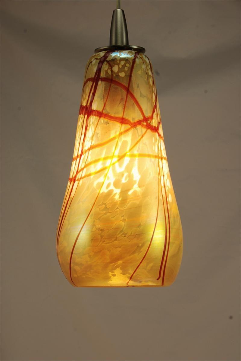 Hand Blown Glass Cherry Blossom Pendant Light By Artist Rick Strini Glass Pendant Light Blown Glass Pendant Light Blown Glass Lighting