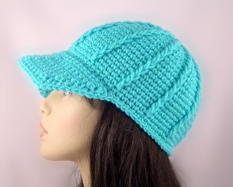 ribbing hat crochet chunky ribbed baseball cap crocheting ideas baby beanie