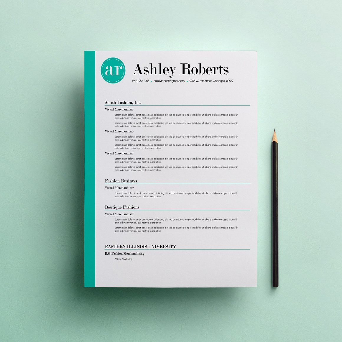 Resume & Cover Letter Template - Resumes | Creative Resumes at ...
