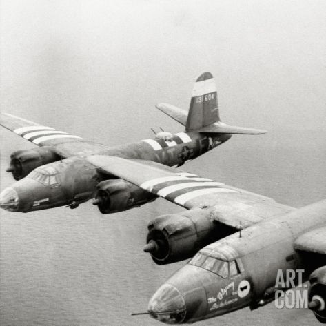 Two B26 Marauder Bombers of the 9th Air Force in Flight, Normandy, France, July 1944 Photographic Print at Art.com