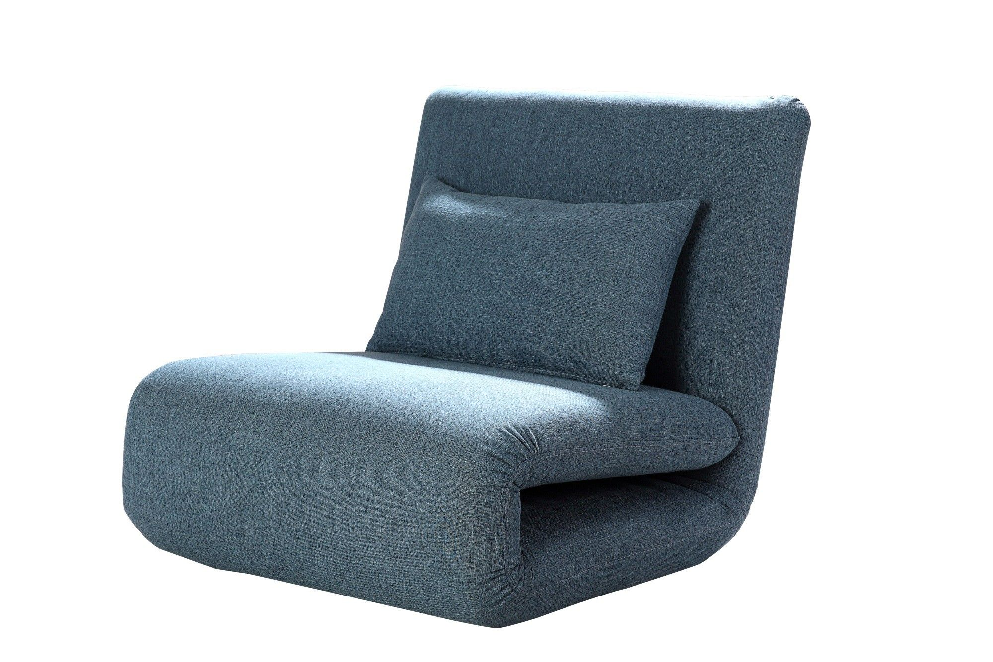 fauteuil design convertible en tissu bleu norton. Black Bedroom Furniture Sets. Home Design Ideas