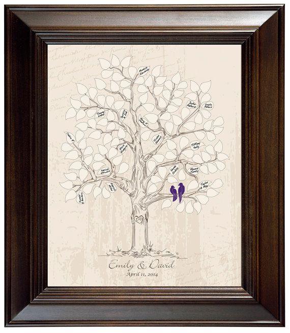 Guestbook alternative wedding tree love bird themed wedding rustic ...