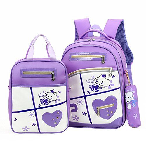 86e4793e45 Moonwind 3pcs Girls Boys School Backpack Kids Book Bag and Pencil Lunch Bag  Set 3pcs Purple    Want additional info  Click on the image.