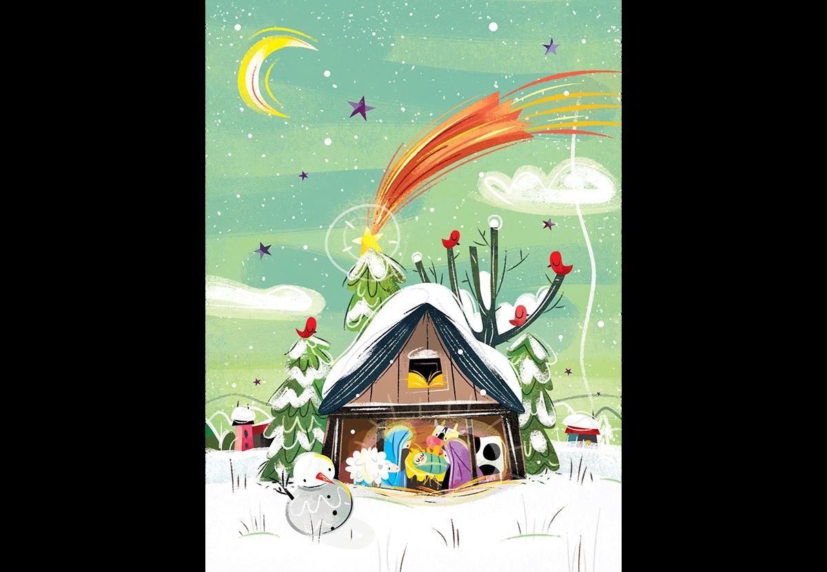 "查看此 @Behance 项目:""Christmas Cards 2016""https://www.behance.net/gallery/44716513/Christmas-Cards-2016"