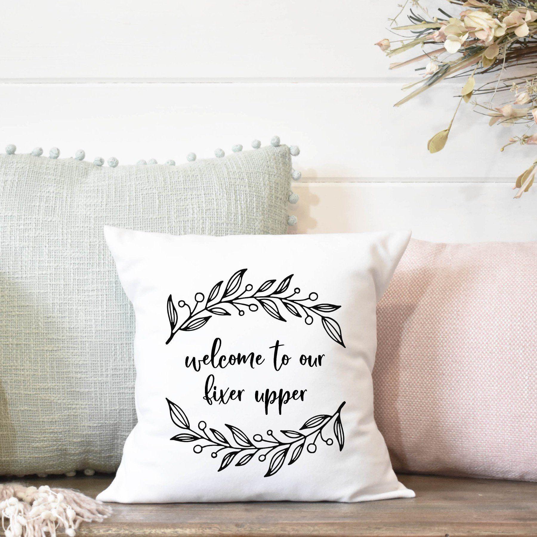Welcome Pillow Cover, Farmhouse Decor