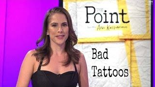 """This a segment from """"The Point"""" with Ana Kasparian. She discusses """"bad tattoos' with Cara Santa Maria and Sandra Daugherty. If you have any you """"regert"""" or """"ragret"""" Spa915 can sink your ink with laser tattoo removal. Give us a call at (915) 491-6346 to book your FREE consultation today. You can also like us on Facebook at Facebook.com/Spa915."""