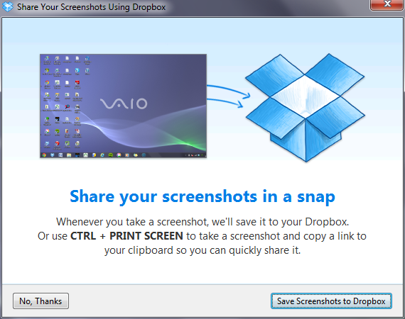 How do I share and save screenshots with Dropbox? (Dropbox